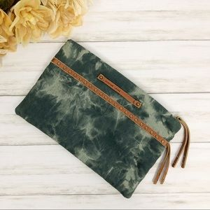 Anthropologie Schuler and Sons Tie Dye Clutch